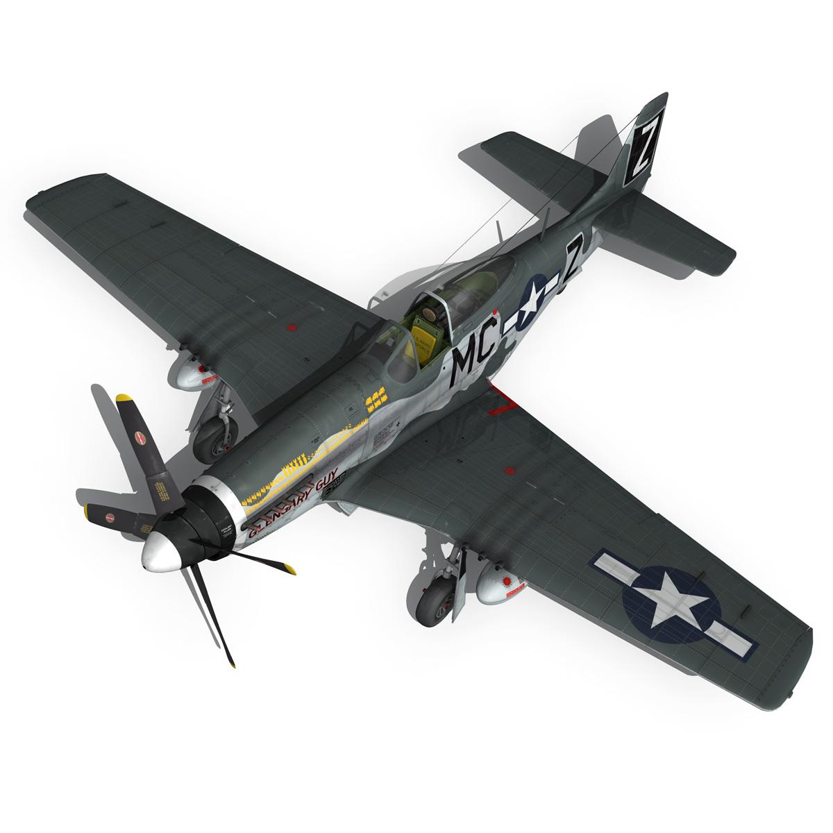 north american p-51d mustang – glengary guy 3d model fbx c4d lwo obj 267529
