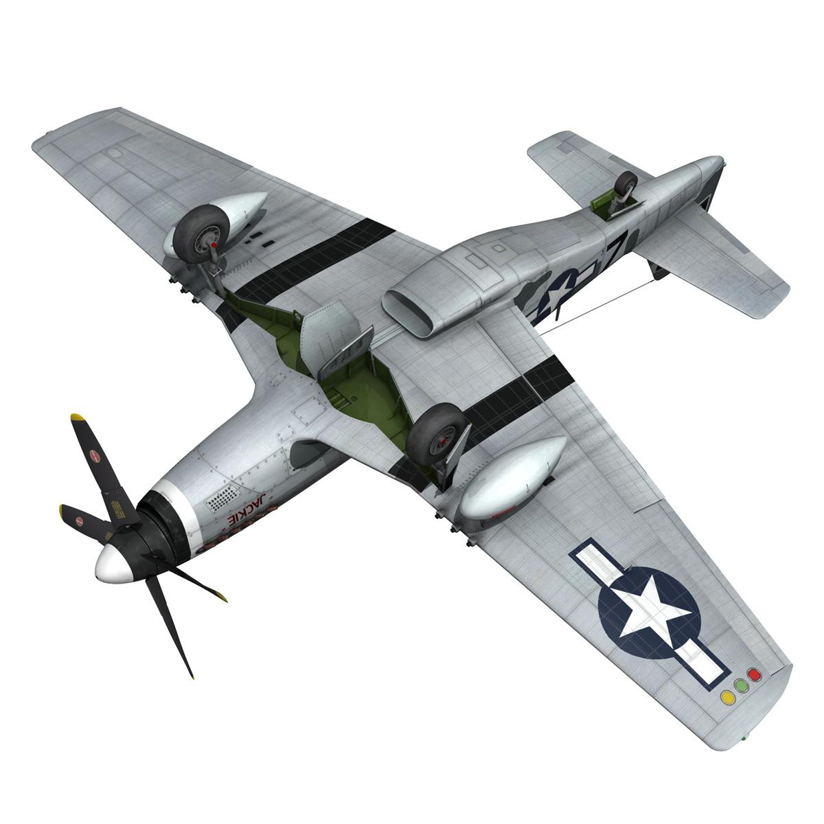 north american p-51d mustang – glengary guy 3d model fbx c4d lwo obj 267531
