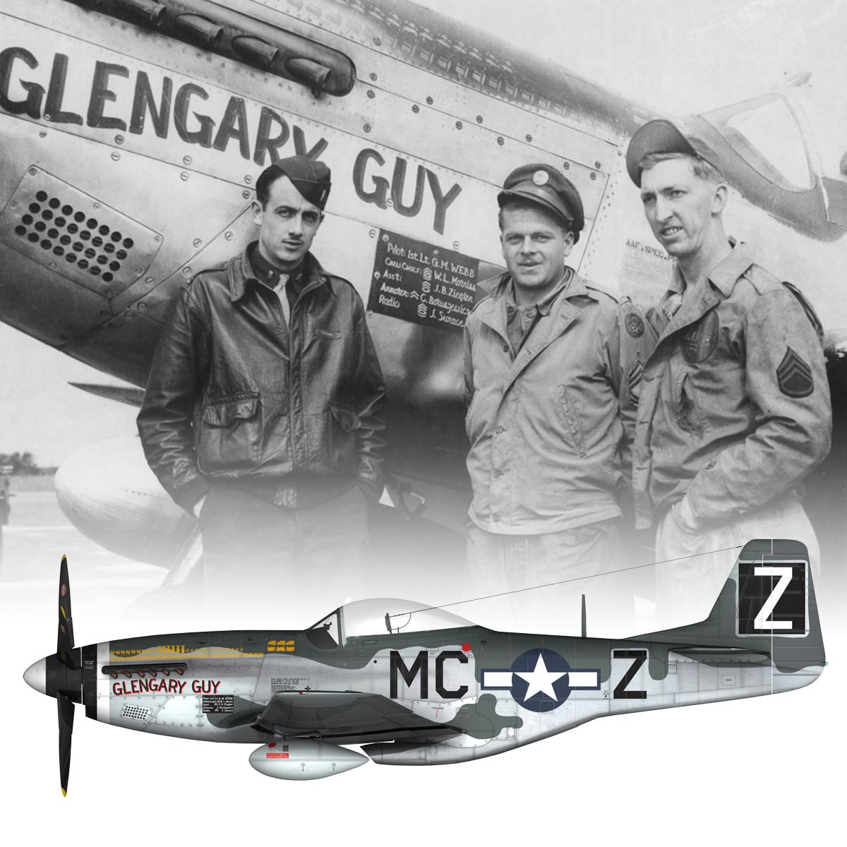 north american p-51d mustang – glengary guy 3d model fbx c4d lwo obj 267532