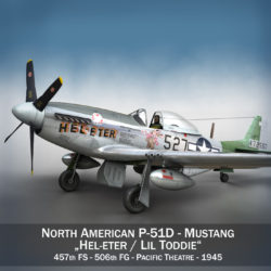 North American P-51D - Mustang - Heleter 3d model 0