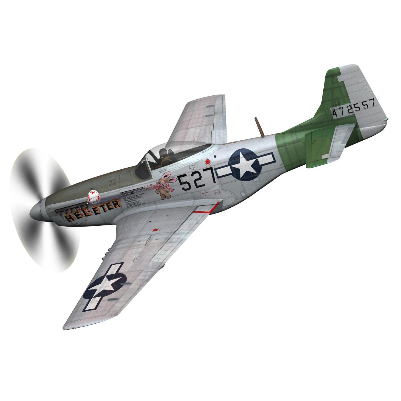 north american p-51d – mustang – heleter 3d model fbx c4d lwo obj 267544