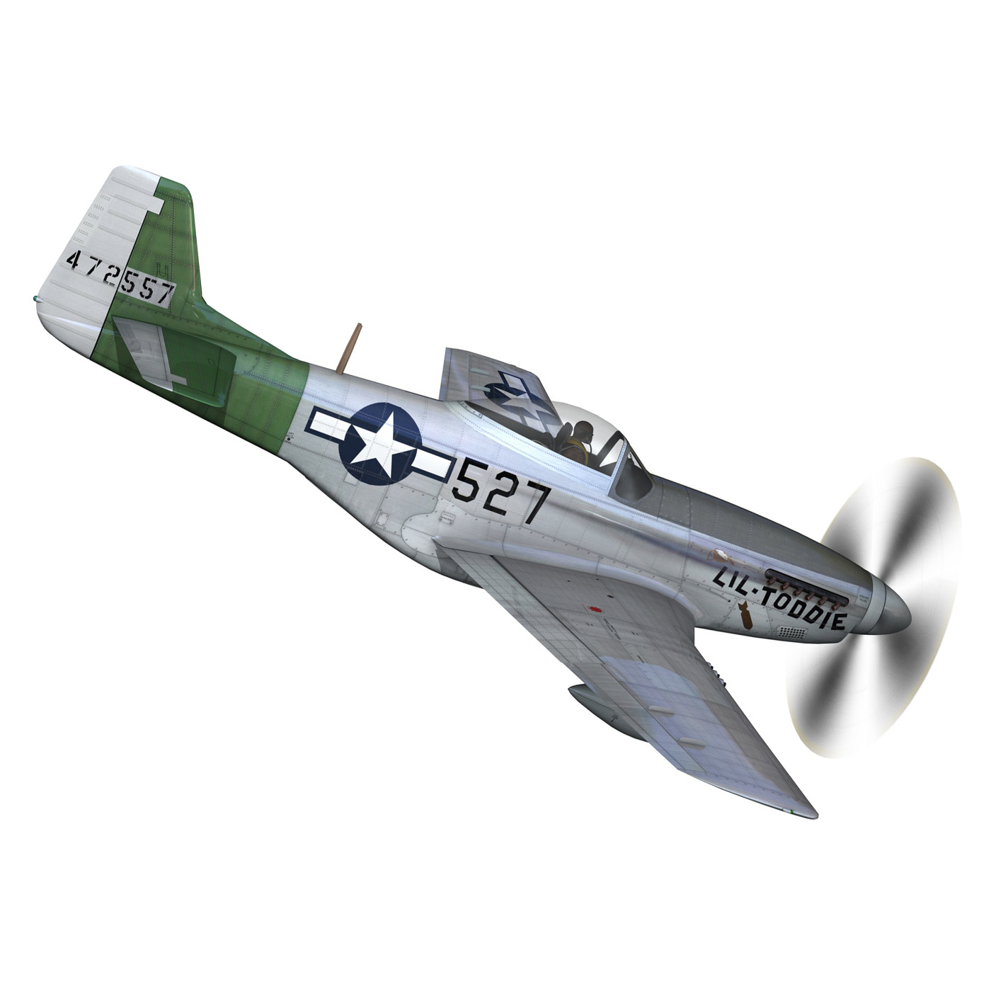 north american p-51d – mustang – heleter 3d model fbx c4d lwo obj 267545