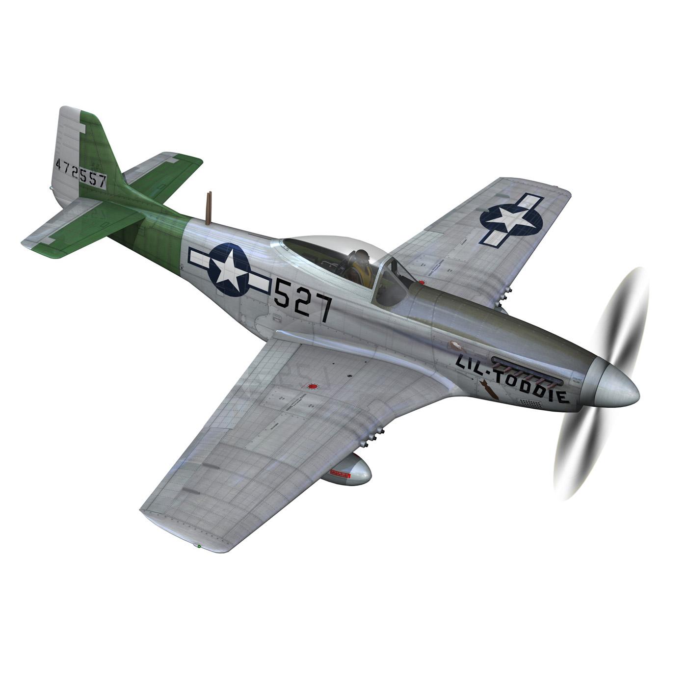 north american p-51d – mustang – heleter 3d model fbx c4d lwo obj 267546