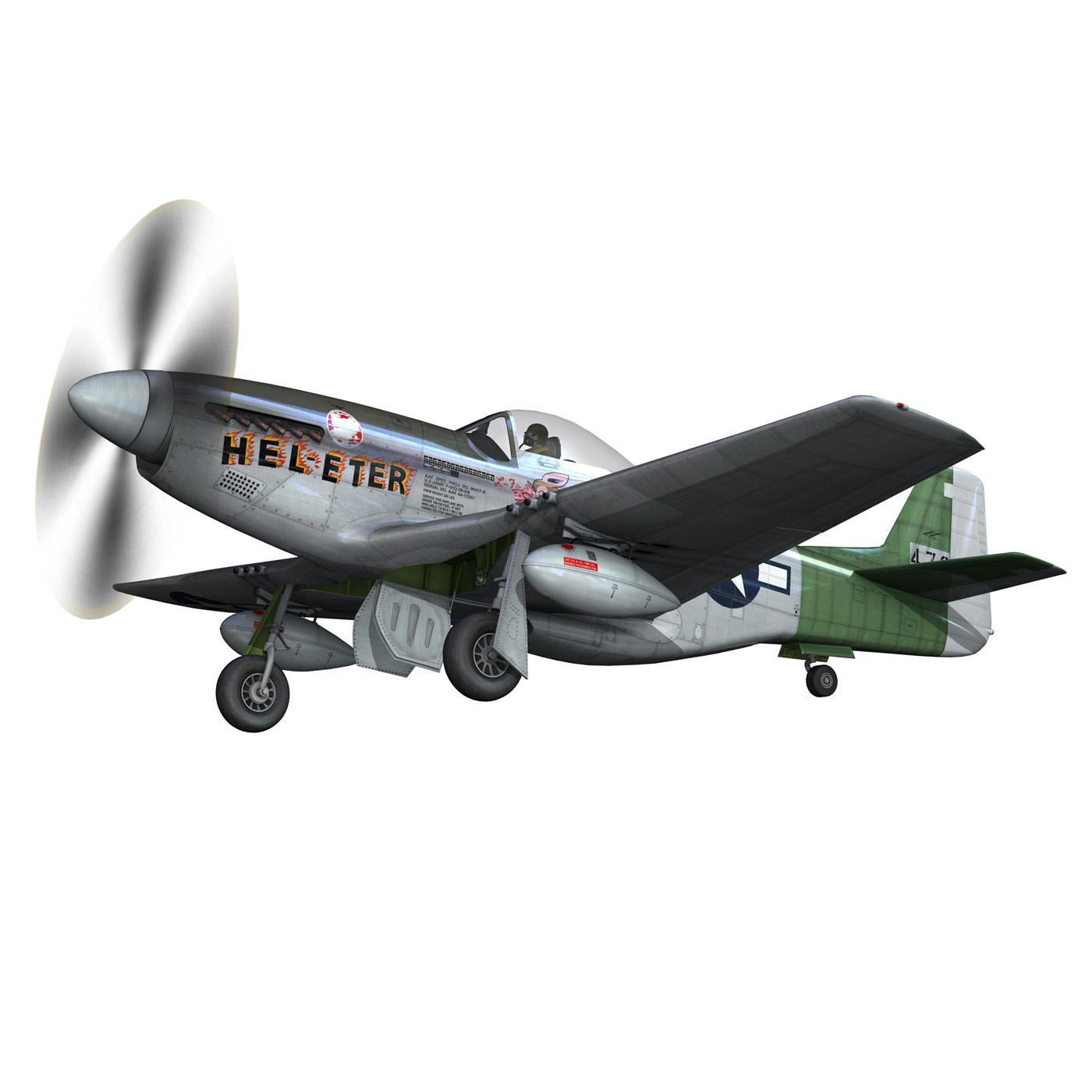 north american p-51d – mustang – heleter 3d model fbx c4d lwo obj 267547