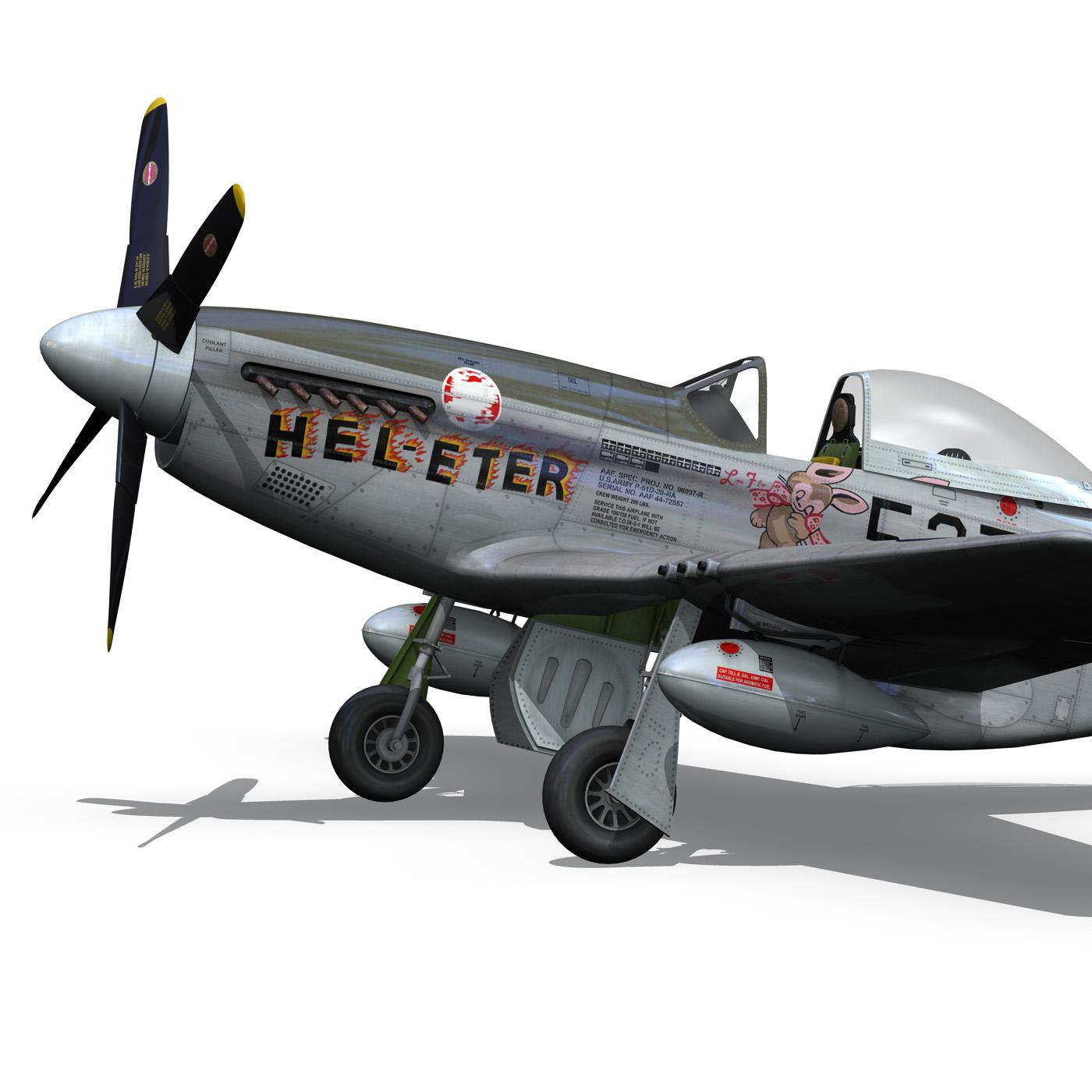 north american p-51d – mustang – heleter 3d model fbx c4d lwo obj 267548