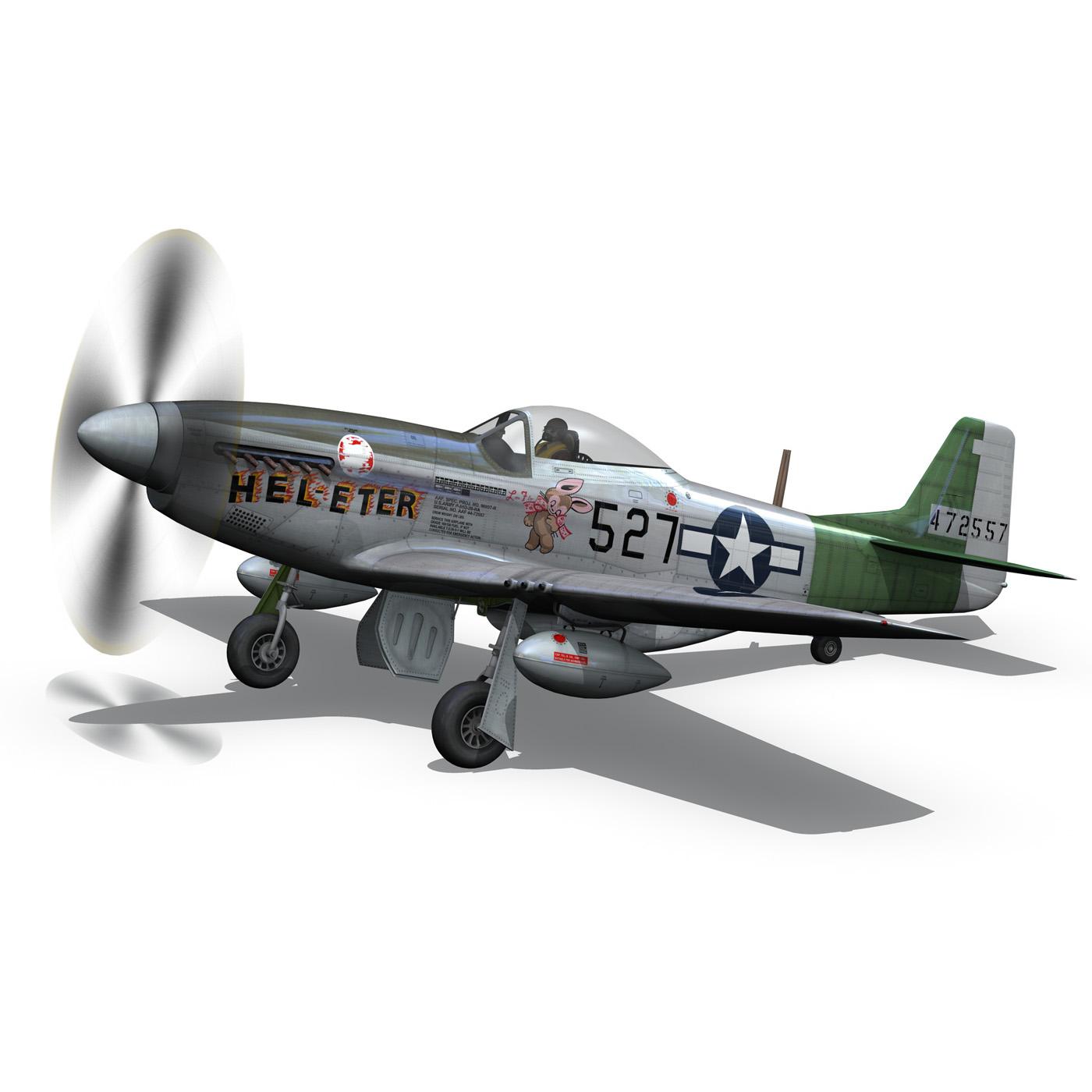 north american p-51d – mustang – heleter 3d model fbx c4d lwo obj 267549