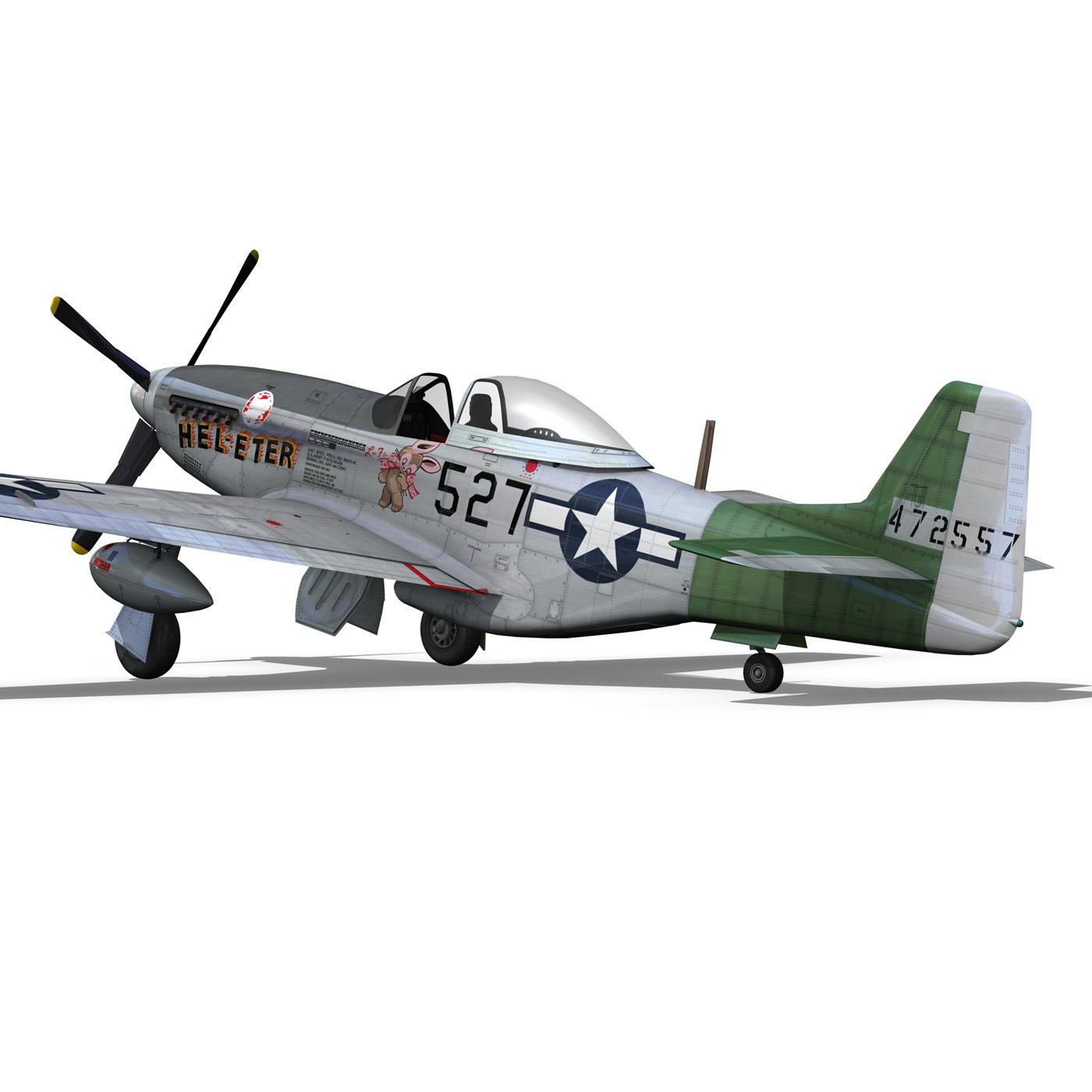 north american p-51d – mustang – heleter 3d model fbx c4d lwo obj 267550