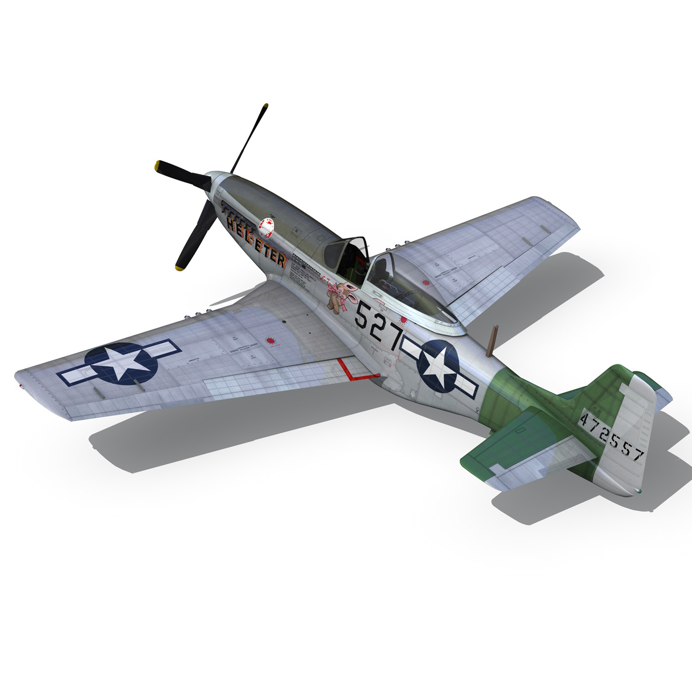north american p-51d – mustang – heleter 3d model fbx c4d lwo obj 267551