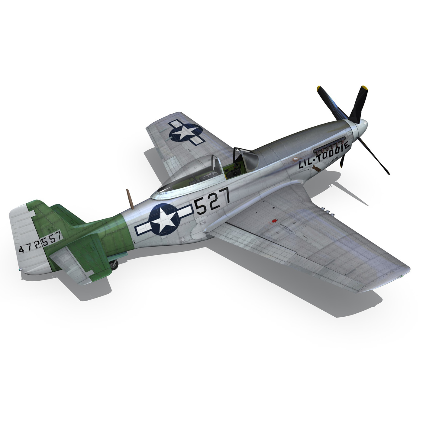 north american p-51d – mustang – heleter 3d model fbx c4d lwo obj 267552