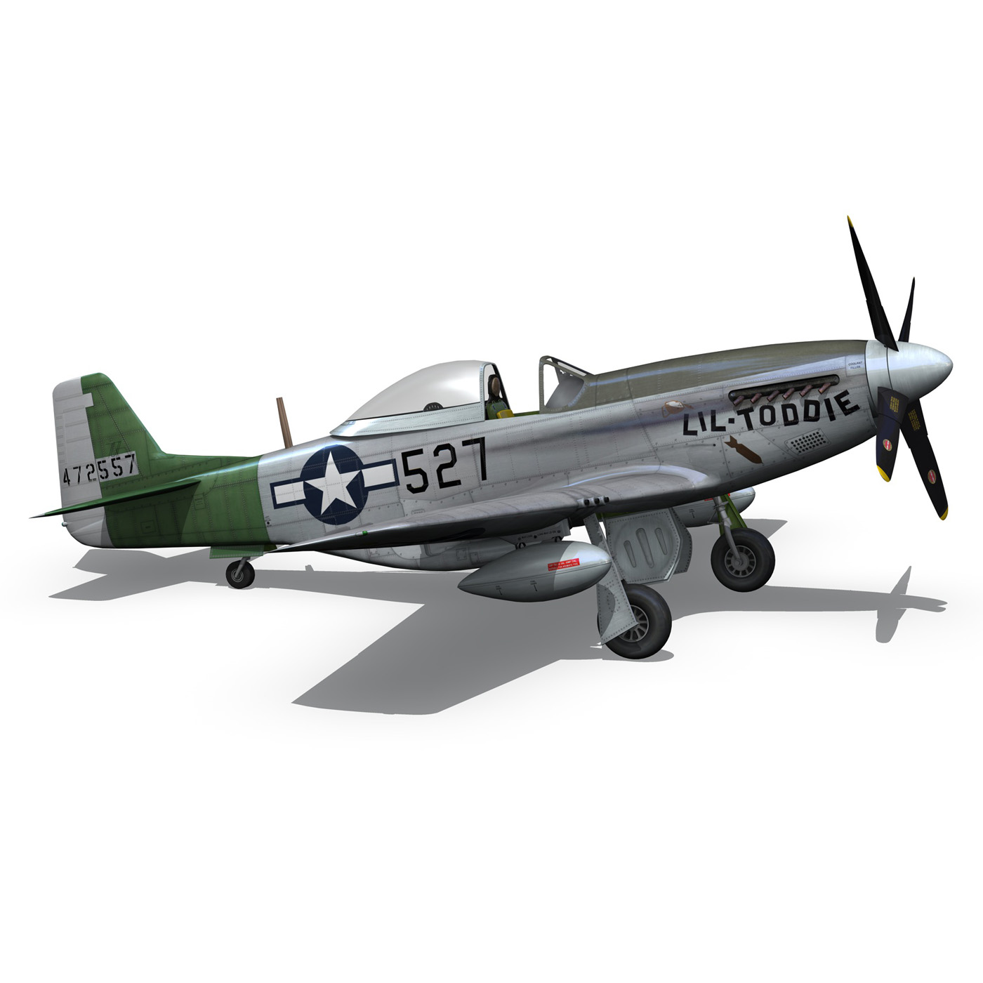 north american p-51d – mustang – heleter 3d model fbx c4d lwo obj 267553