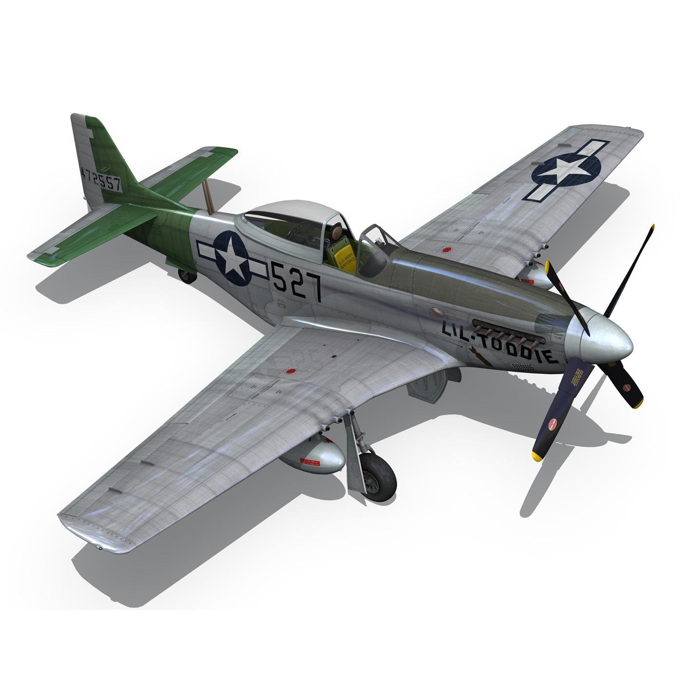 north american p-51d – mustang – heleter 3d model fbx c4d lwo obj 267554