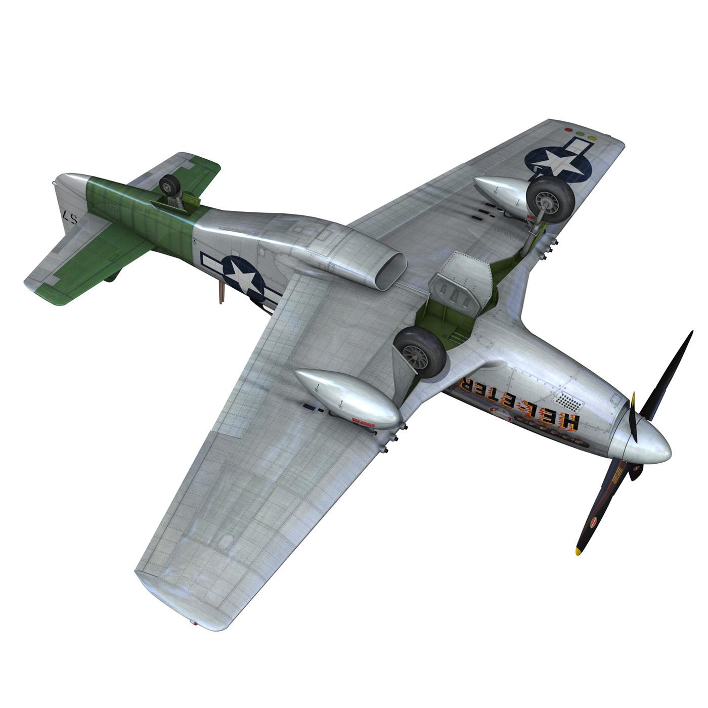 north american p-51d – mustang – heleter 3d model fbx c4d lwo obj 267555