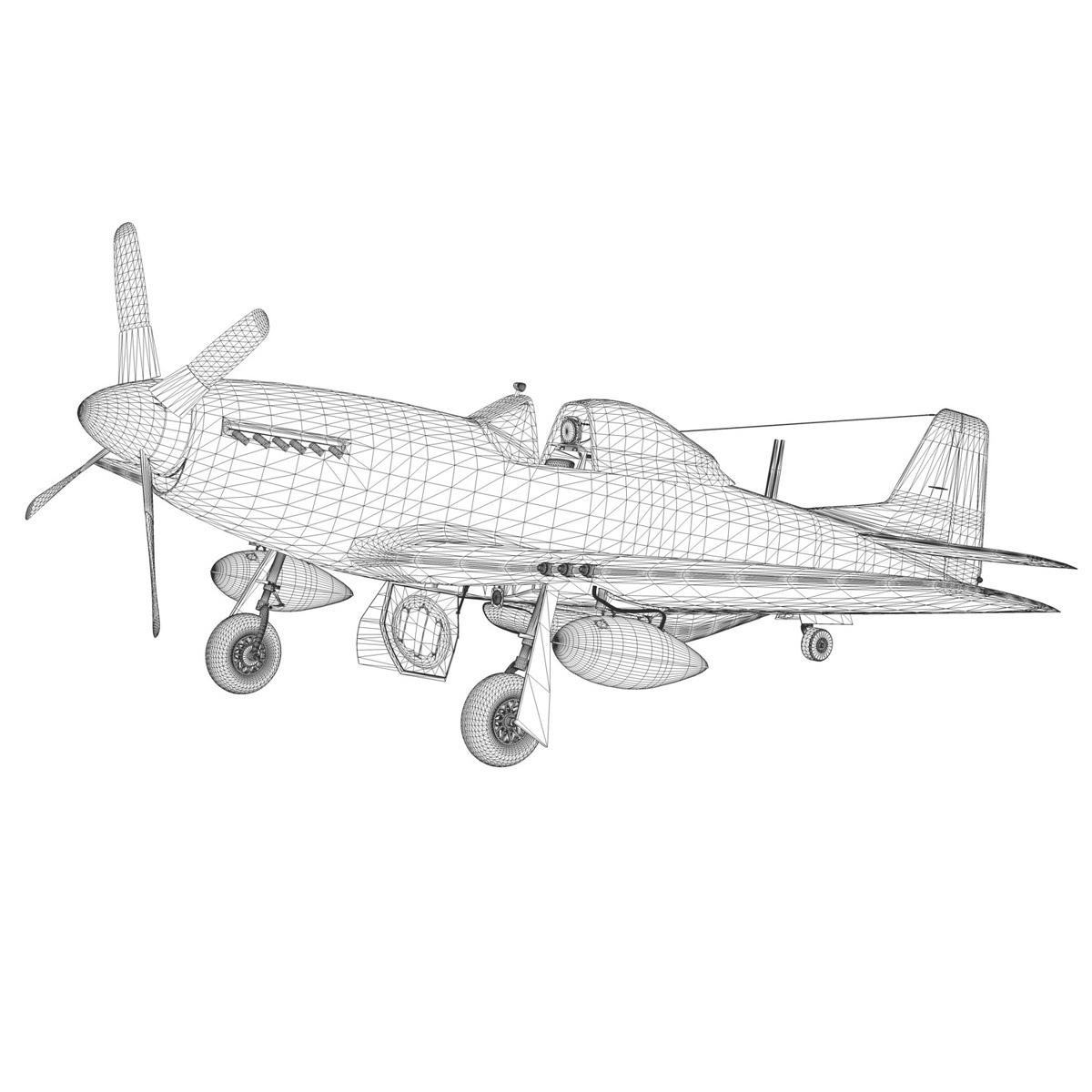 north american p-51d – mustang – heleter 3d model fbx c4d lwo obj 267559