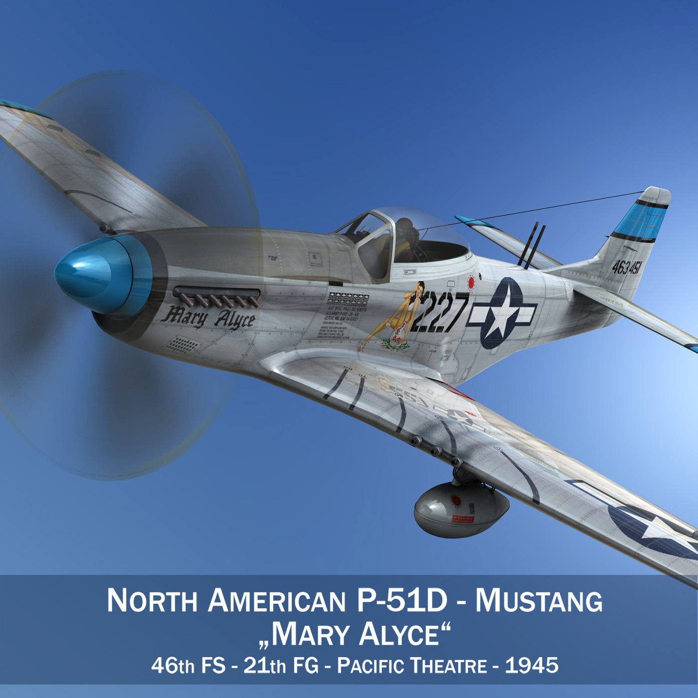 north american p-51d – mustang – mary alyce 3d model 3ds fbx c4d lwo obj 267566