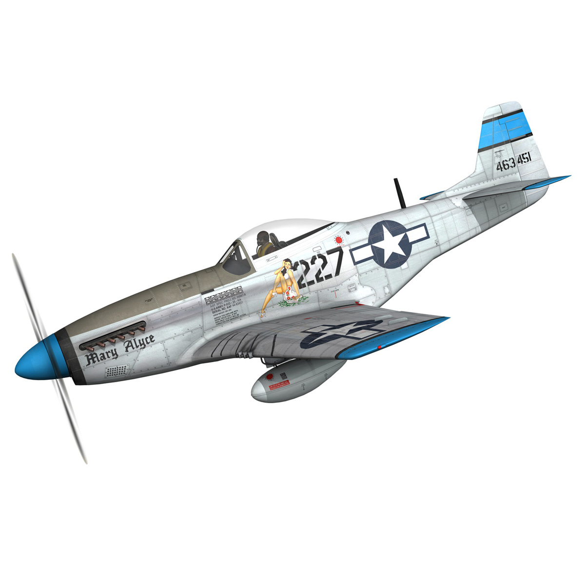north american p-51d – mustang – mary alyce 3d model 3ds fbx c4d lwo obj 267567
