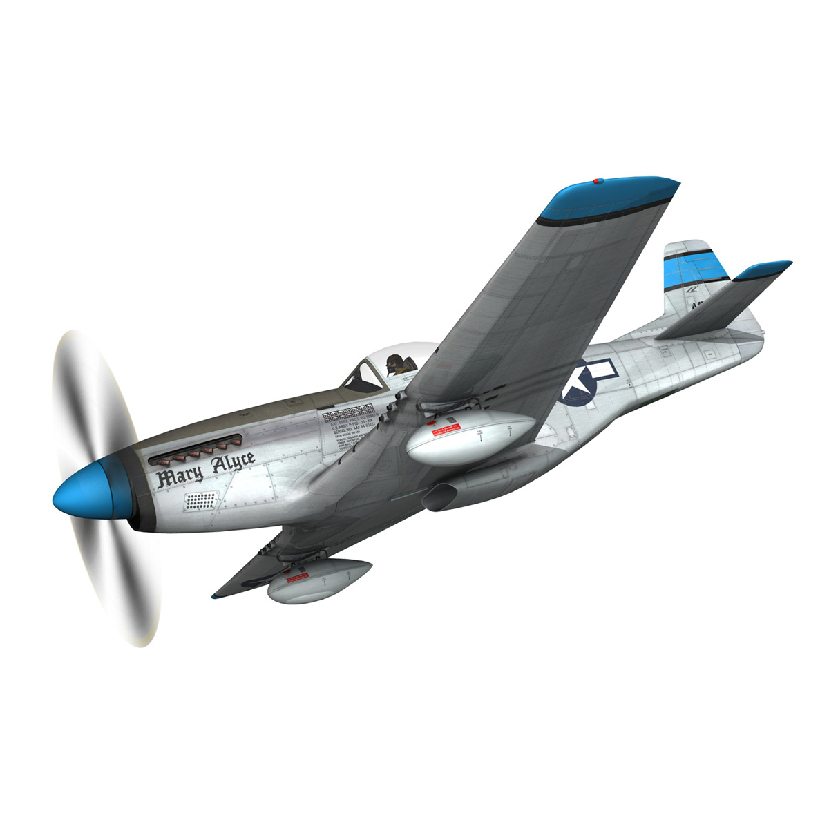 north american p-51d – mustang – mary alyce 3d model 3ds fbx c4d lwo obj 267568
