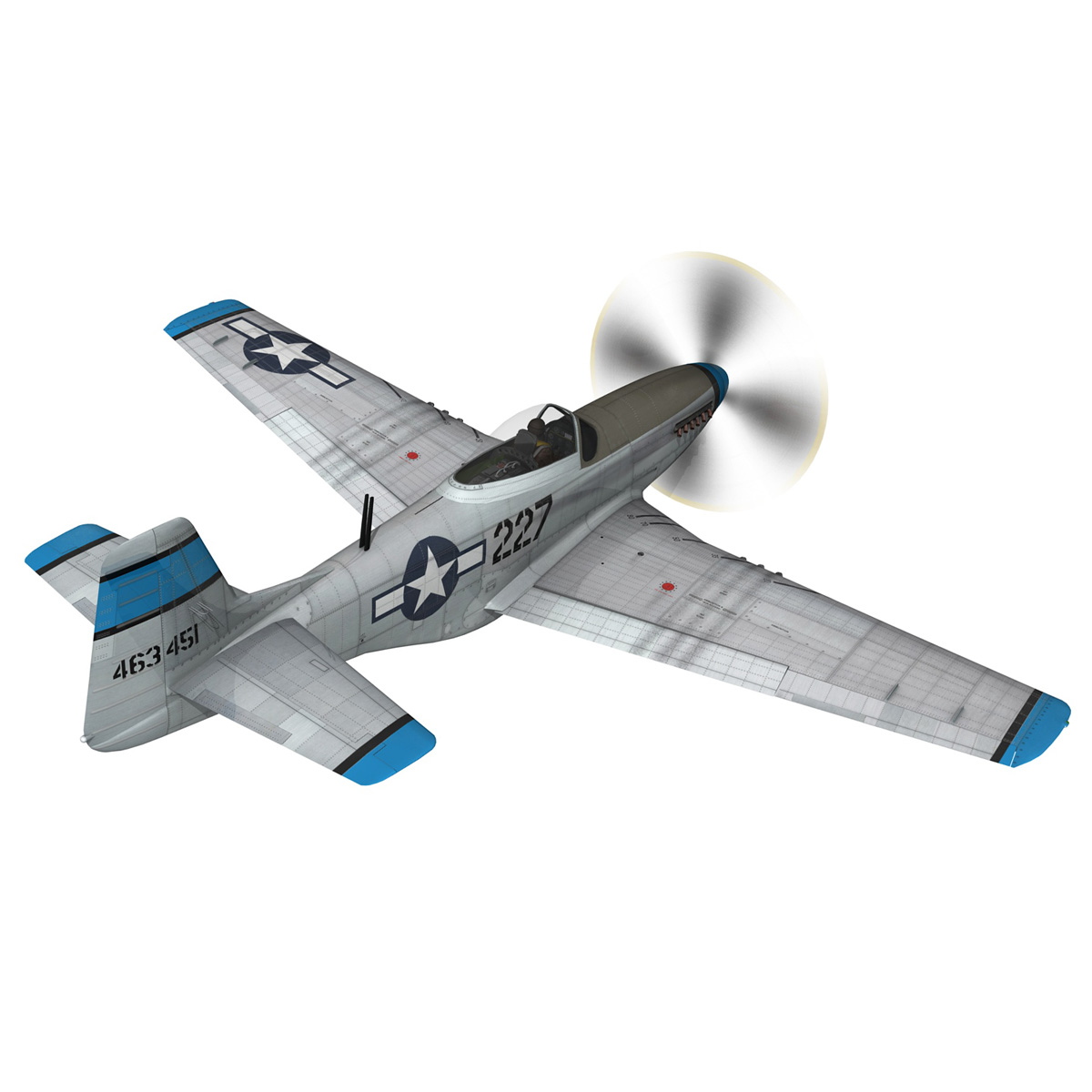 north american p-51d – mustang – mary alyce 3d model 3ds fbx c4d lwo obj 267571