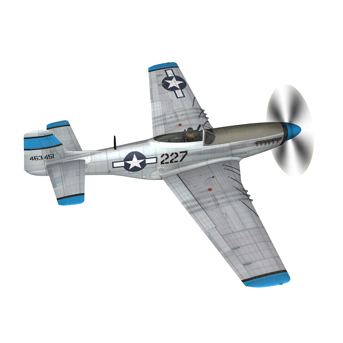 north american p-51d – mustang – mary alyce 3d model 3ds fbx c4d lwo obj 267572