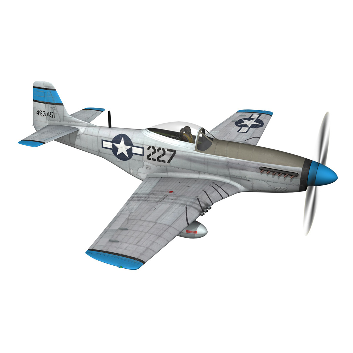 north american p-51d – mustang – mary alyce 3d model 3ds fbx c4d lwo obj 267573