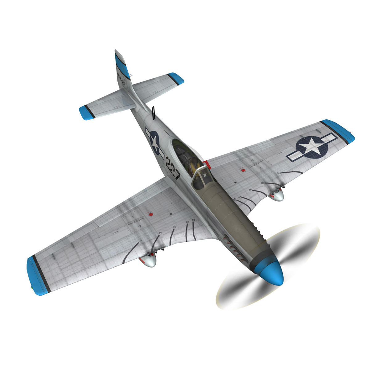 north american p-51d – mustang – mary alyce 3d model 3ds fbx c4d lwo obj 267574