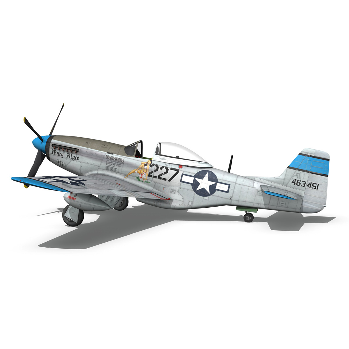 north american p-51d – mustang – mary alyce 3d model 3ds fbx c4d lwo obj 267577