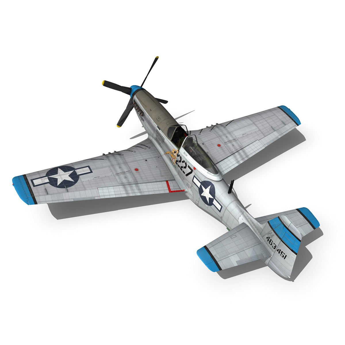 north american p-51d – mustang – mary alyce 3d model 3ds fbx c4d lwo obj 267578