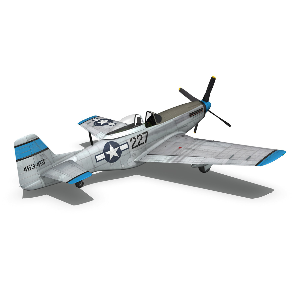 north american p-51d – mustang – mary alyce 3d model 3ds fbx c4d lwo obj 267579