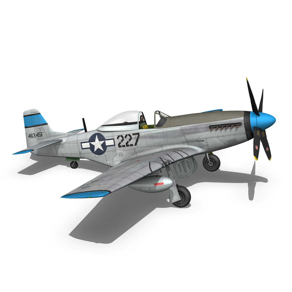 north american p-51d – mustang – mary alyce 3d model 3ds fbx c4d lwo obj 267580