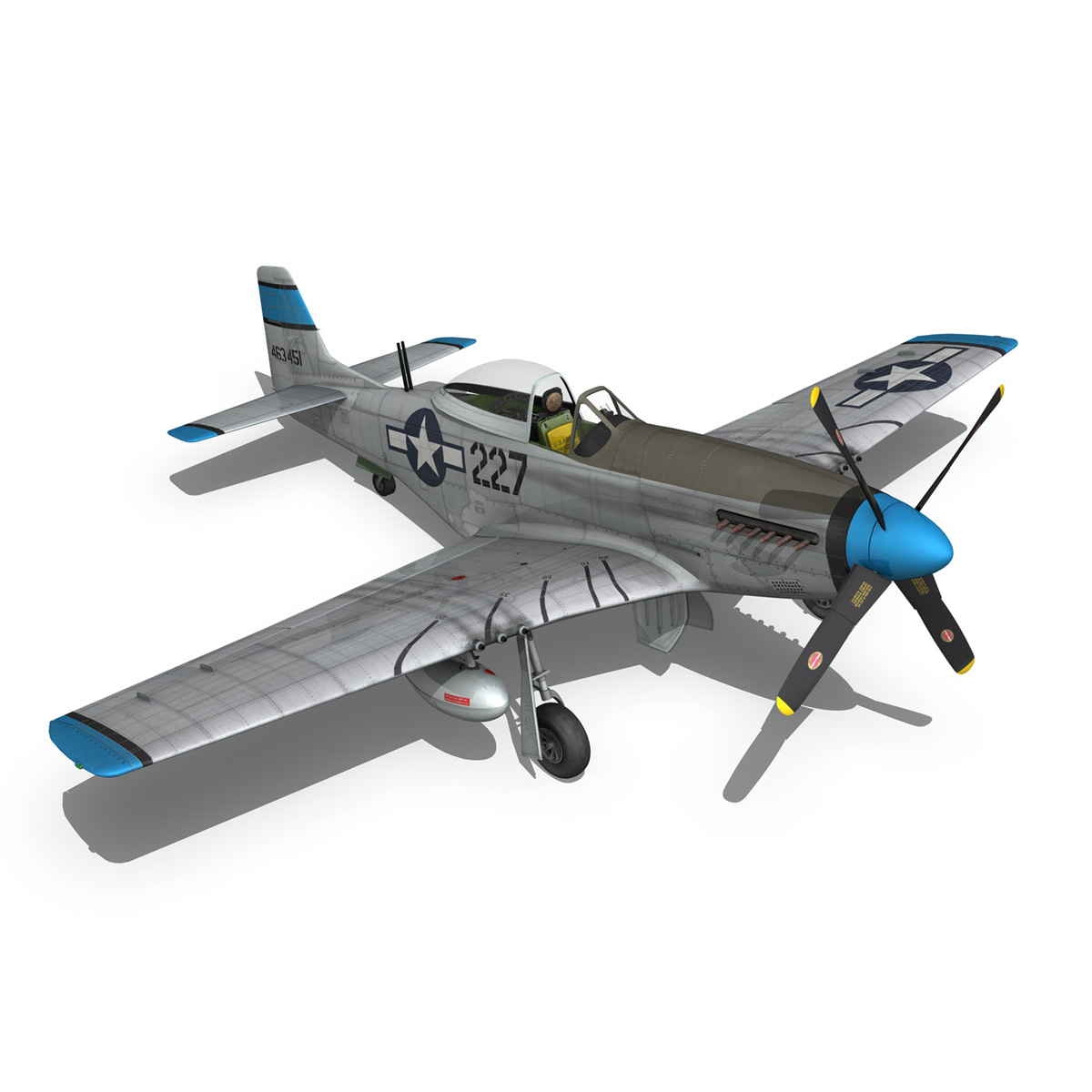north american p-51d – mustang – mary alyce 3d model 3ds fbx c4d lwo obj 267581