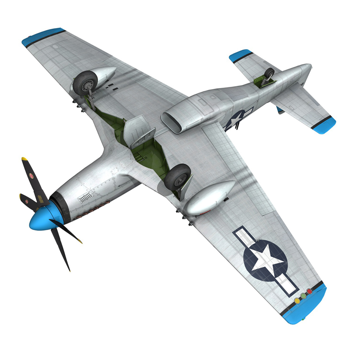 north american p-51d – mustang – mary alyce 3d model 3ds fbx c4d lwo obj 267582