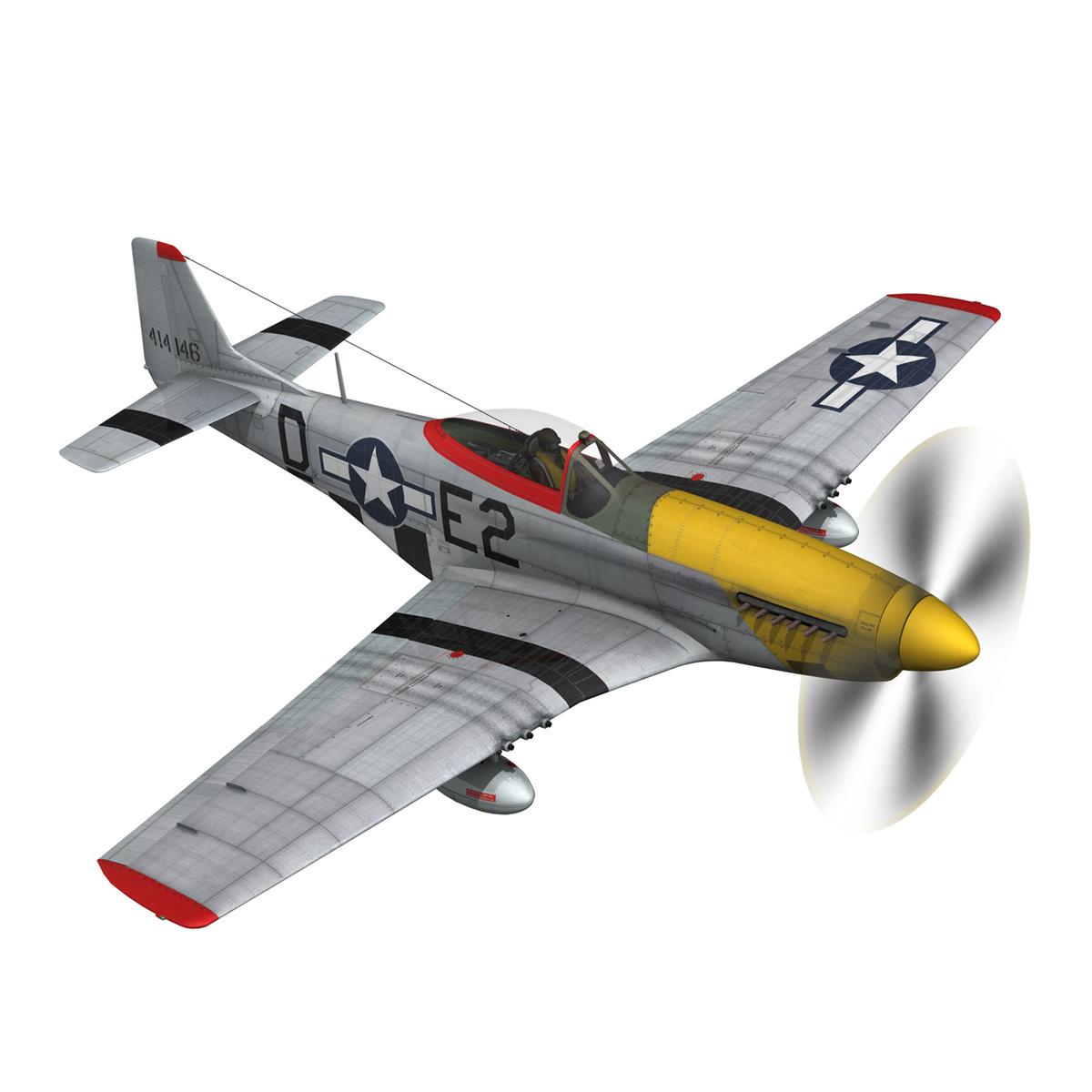 north american p-51d – mustang – detroit miss 3d model 3ds fbx c4d lwo obj 267599