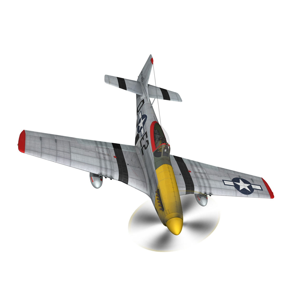 north american p-51d – mustang – detroit miss 3d model 3ds fbx c4d lwo obj 267600