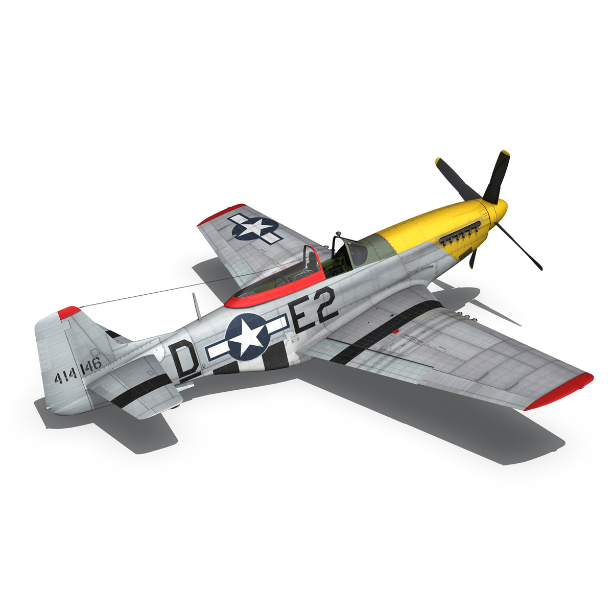 north american p-51d – mustang – detroit miss 3d model 3ds fbx c4d lwo obj 267604