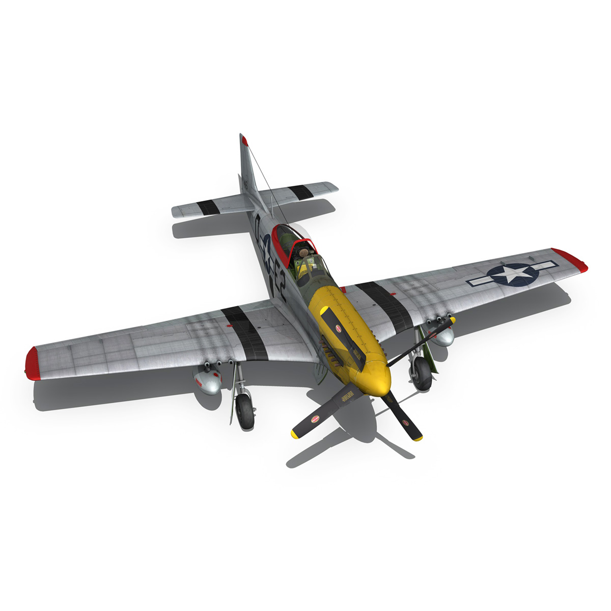 north american p-51d – mustang – detroit miss 3d model 3ds fbx c4d lwo obj 267606