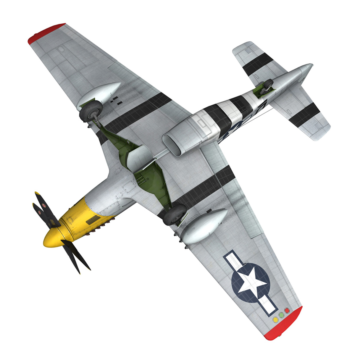 north american p-51d – mustang – detroit miss 3d model 3ds fbx c4d lwo obj 267607