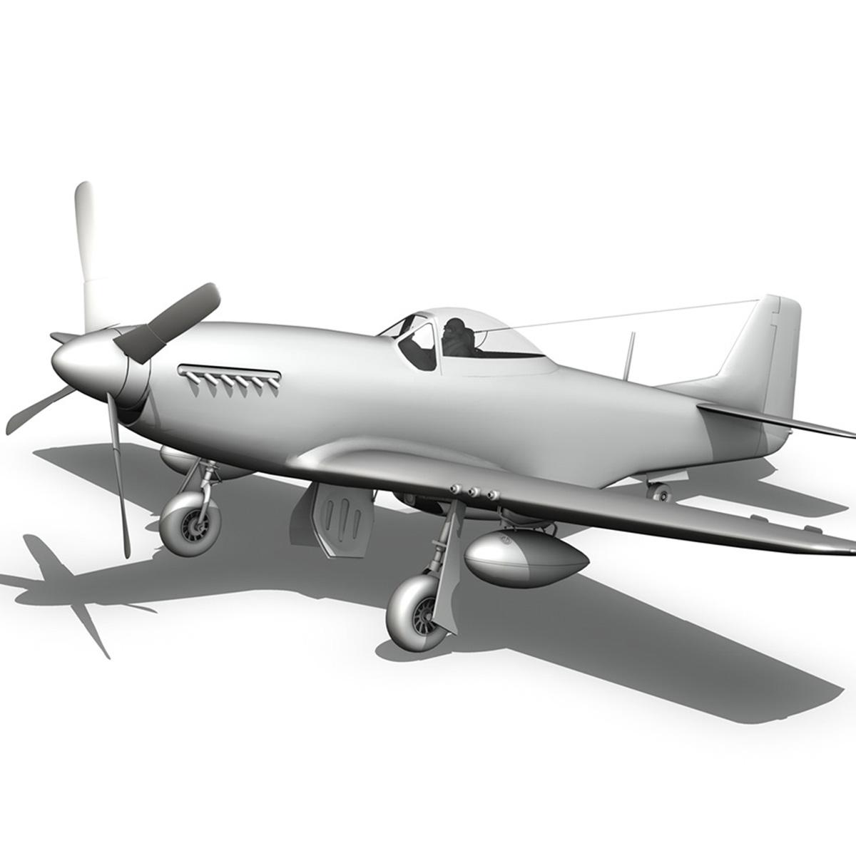 north american p-51d – mustang – detroit miss 3d model 3ds fbx c4d lwo obj 267609