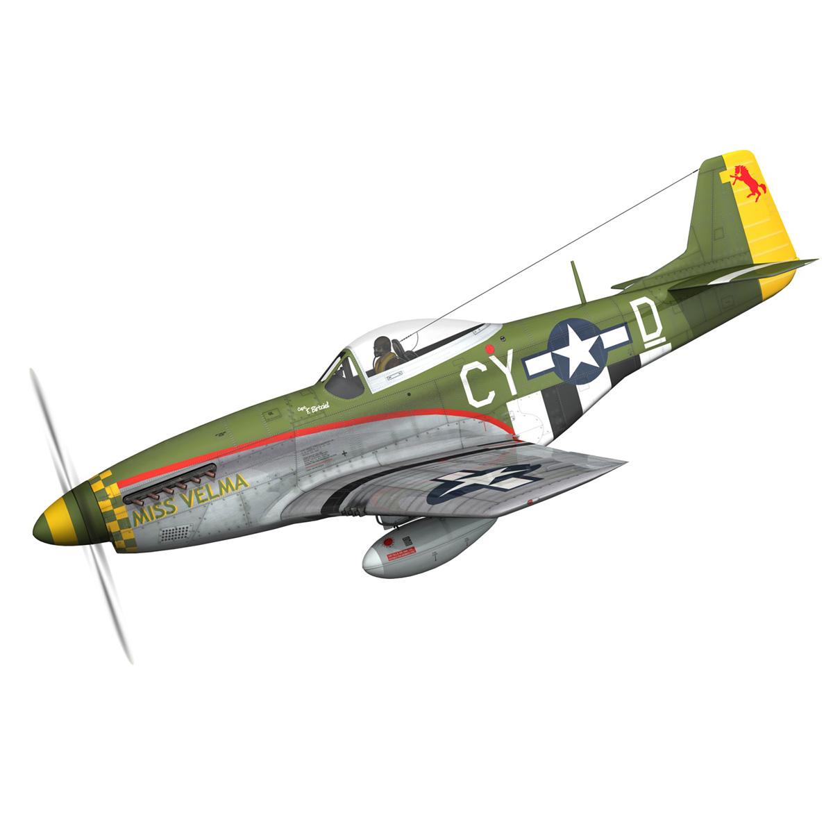 north american p-51d – mustang – miss velma 3d model 3ds fbx c4d lwo obj 267618