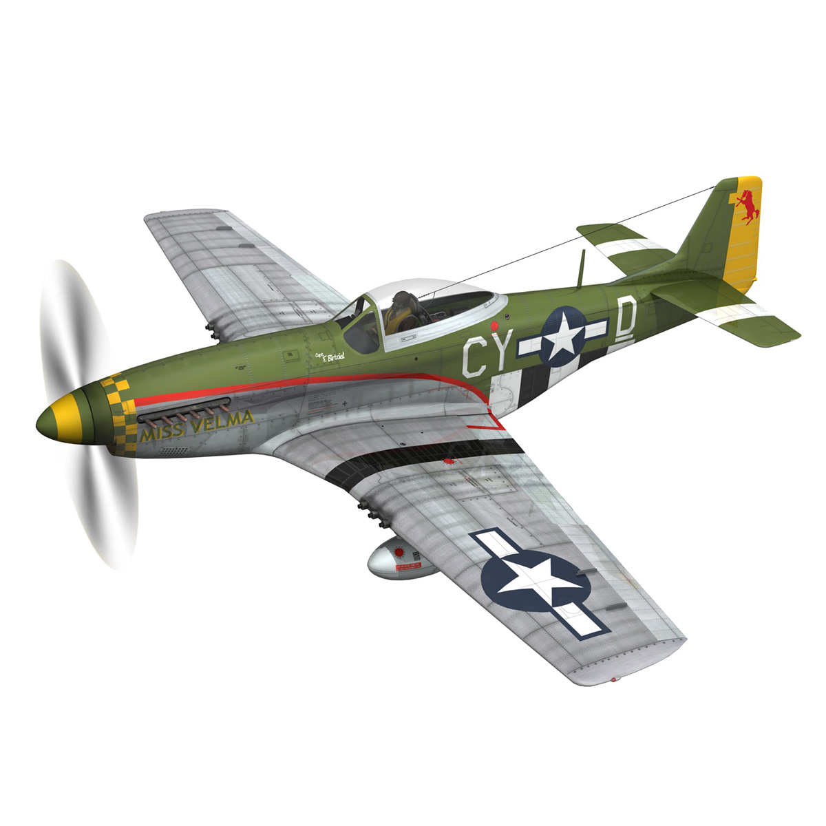 north american p-51d – mustang – miss velma 3d model 3ds fbx c4d lwo obj 267619