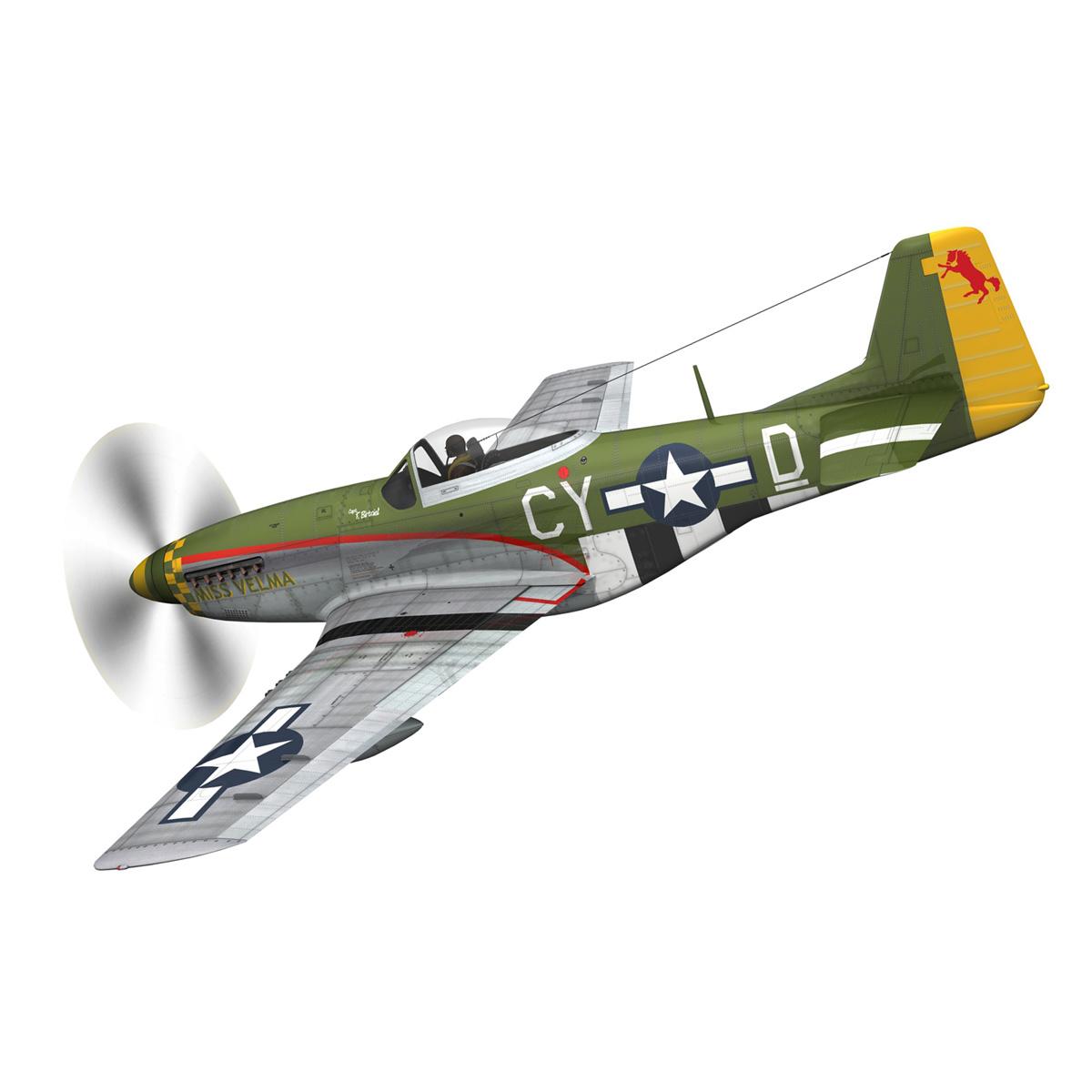 north american p-51d – mustang – miss velma 3d model 3ds fbx c4d lwo obj 267620