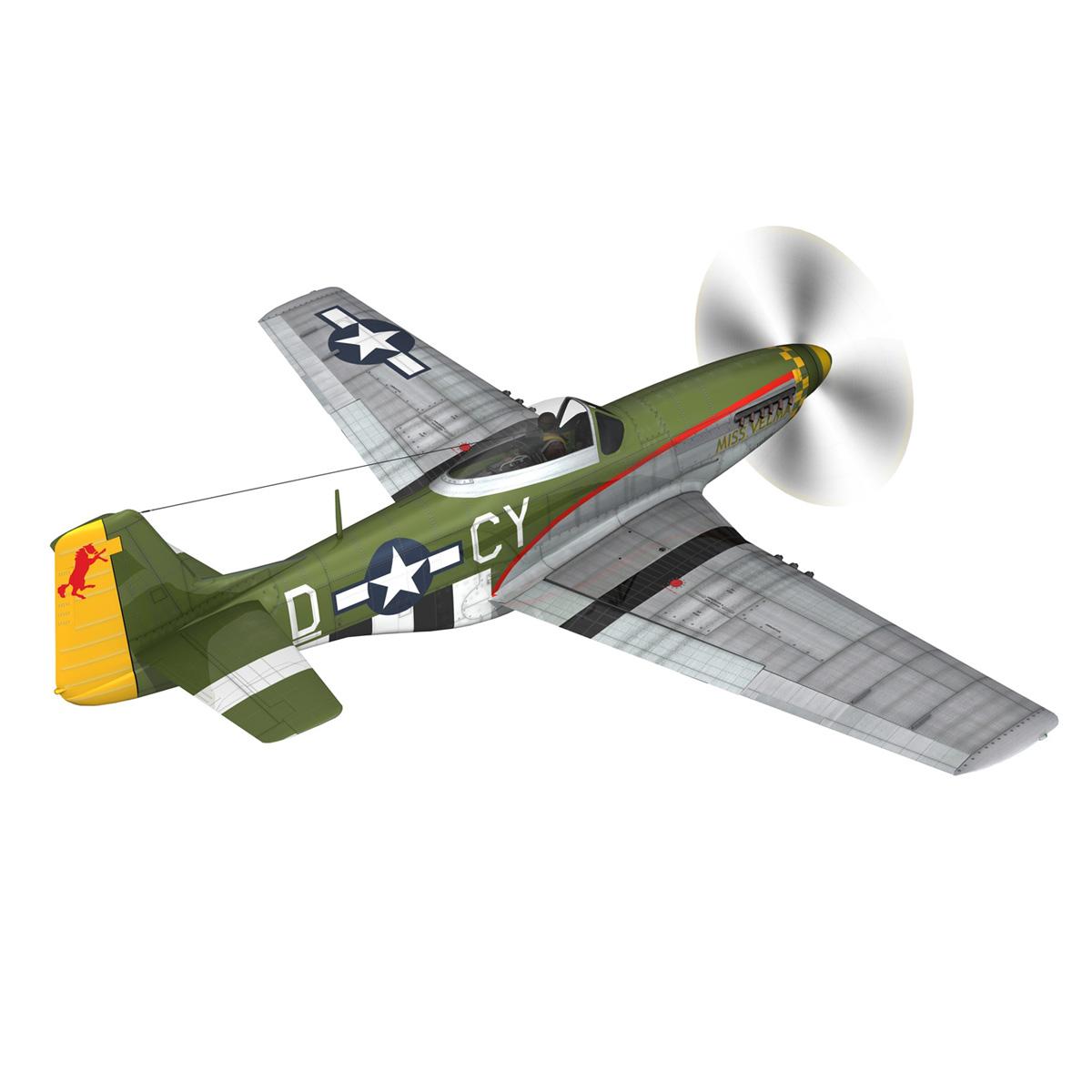north american p-51d – mustang – miss velma 3d model 3ds fbx c4d lwo obj 267621