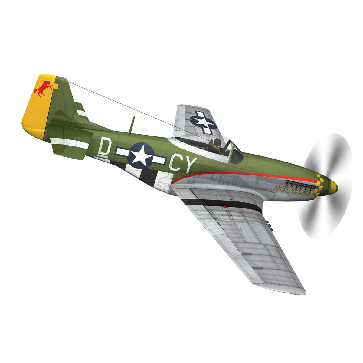 north american p-51d – mustang – miss velma 3d model 3ds fbx c4d lwo obj 267622