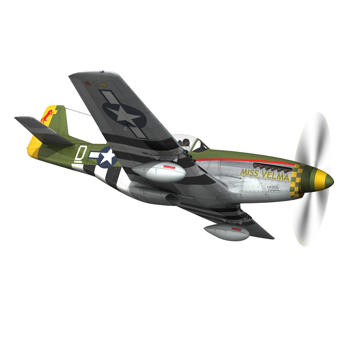 north american p-51d – mustang – miss velma 3d model 3ds fbx c4d lwo obj 267624