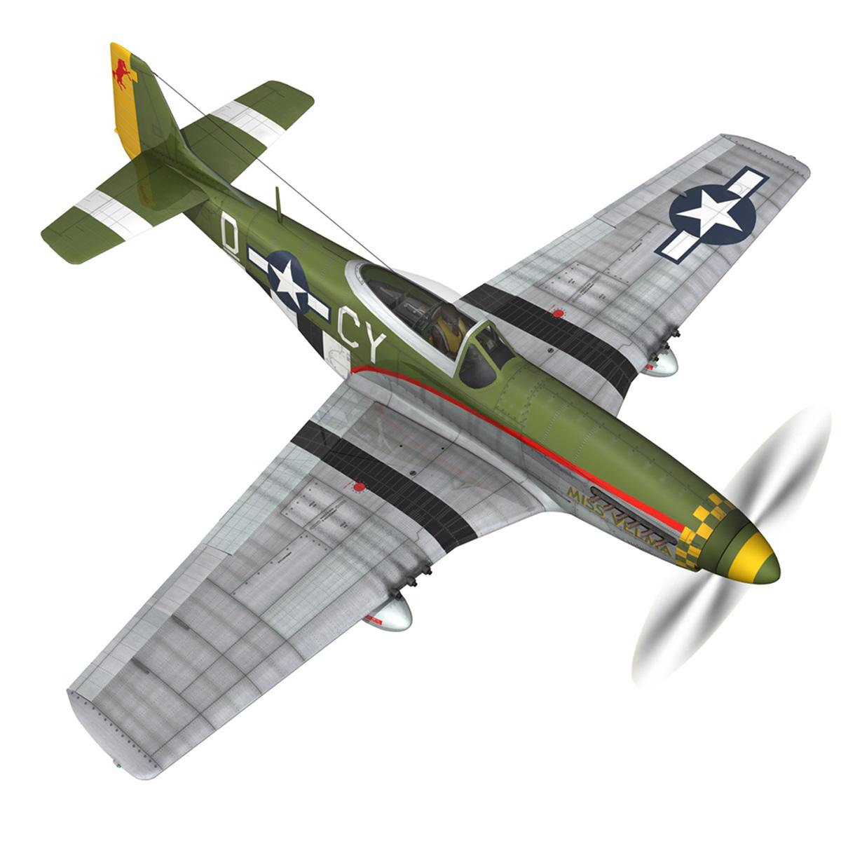 north american p-51d – mustang – miss velma 3d model 3ds fbx c4d lwo obj 267625