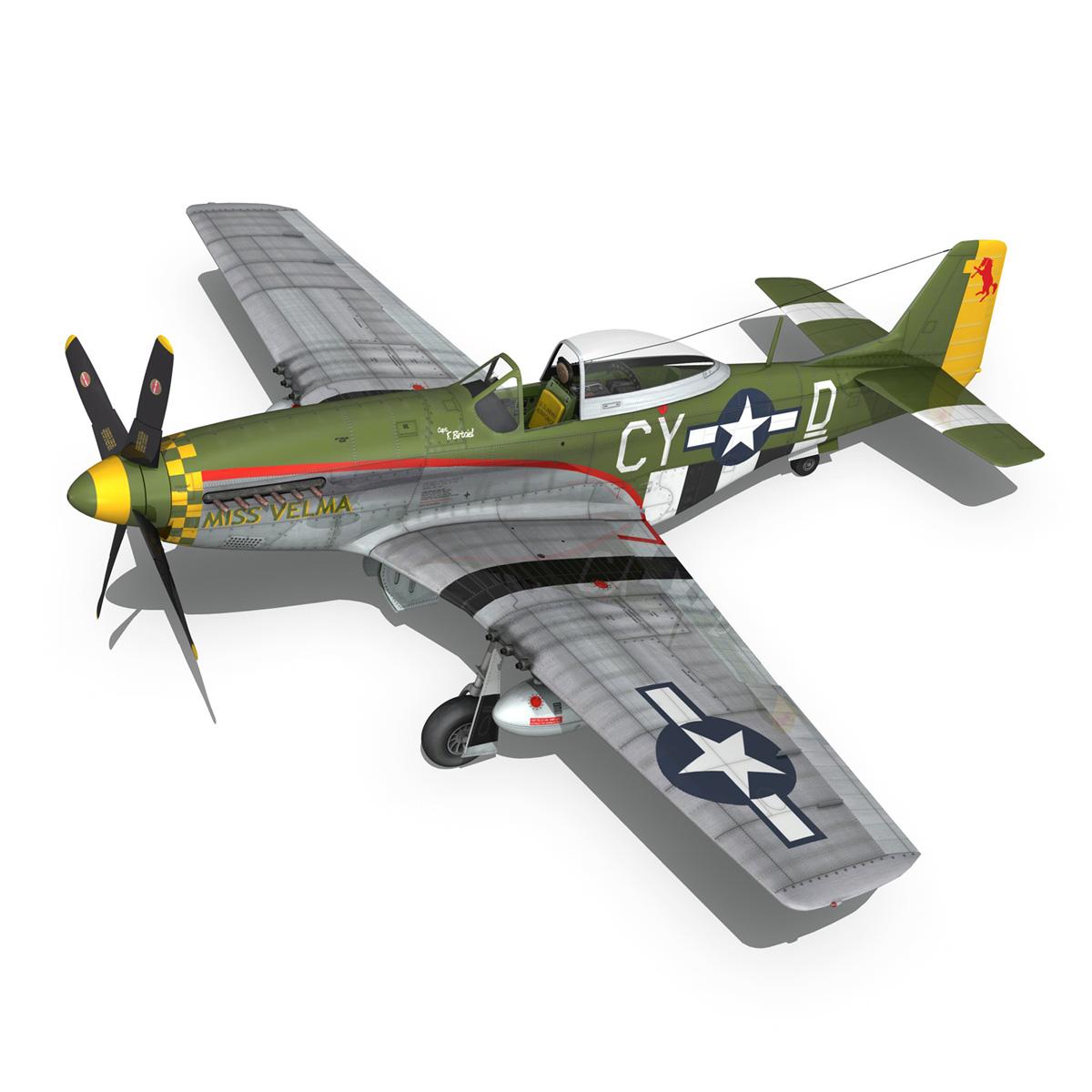 north american p-51d – mustang – miss velma 3d model 3ds fbx c4d lwo obj 267626