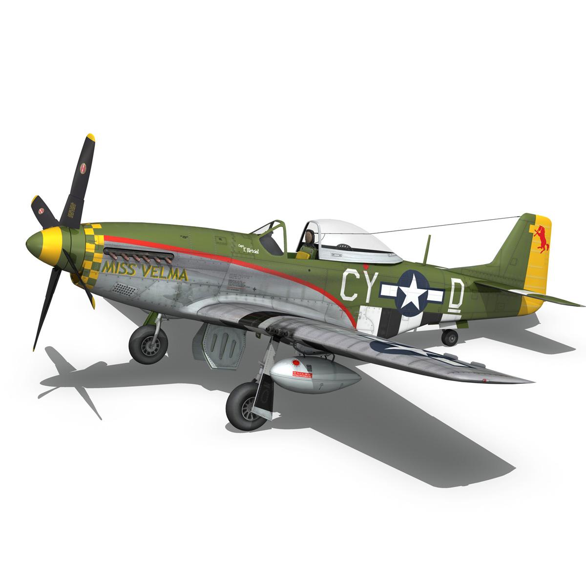 north american p-51d – mustang – miss velma 3d model 3ds fbx c4d lwo obj 267627
