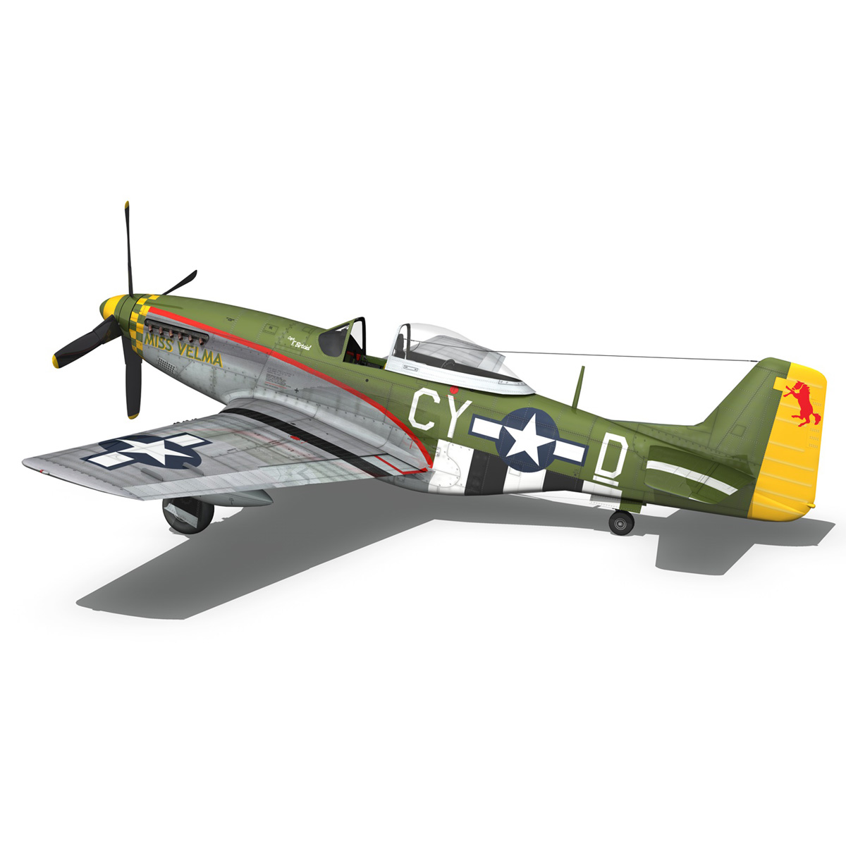 north american p-51d – mustang – miss velma 3d model 3ds fbx c4d lwo obj 267628
