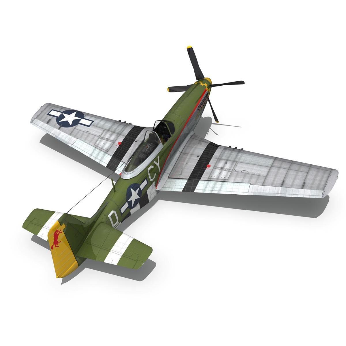 north american p-51d – mustang – miss velma 3d model 3ds fbx c4d lwo obj 267629