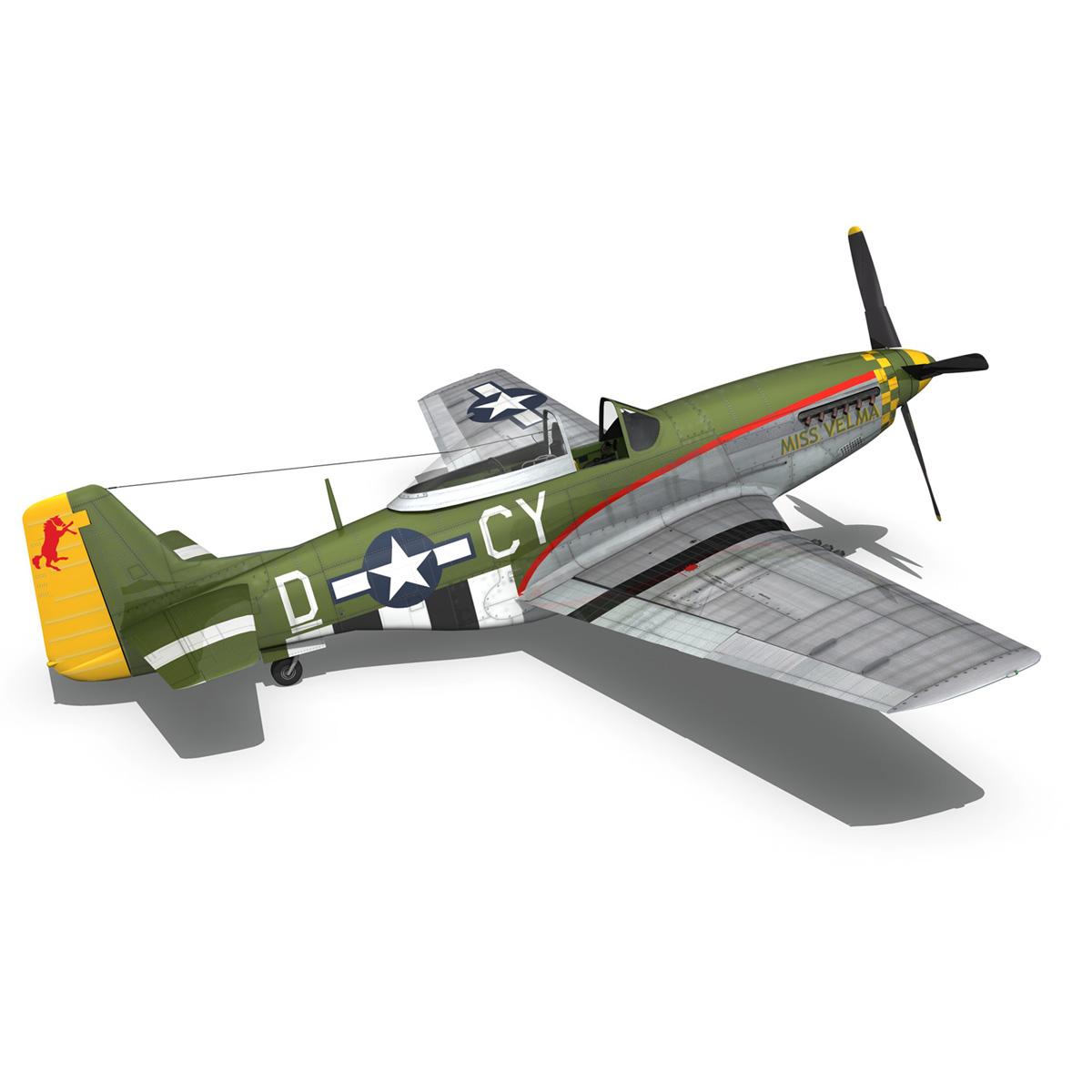 north american p-51d – mustang – miss velma 3d model 3ds fbx c4d lwo obj 267630
