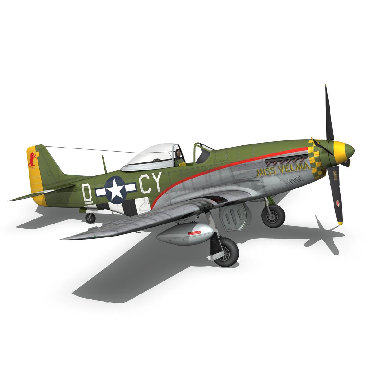 north american p-51d – mustang – miss velma 3d model 3ds fbx c4d lwo obj 267631