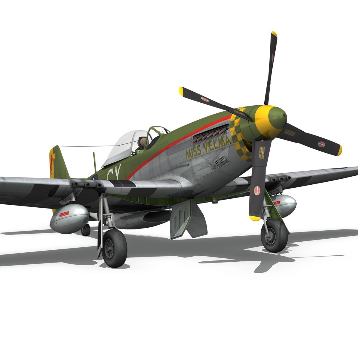 north american p-51d – mustang – miss velma 3d model 3ds fbx c4d lwo obj 267632